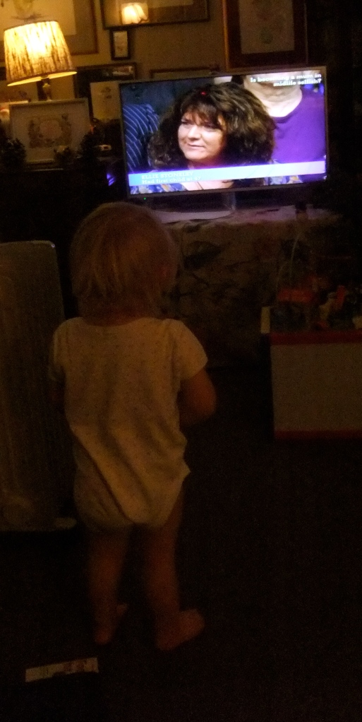 """Mummy onna television"", Hope watching her mother on The Big Questions, taken by her Grandmother!"
