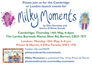 launch invitation to Milky Moments publishing event