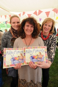 14/05/15 Milky Moments - Barton, Cambridge Cambridge writer (and erstwhile CN blogger) Ellie Stoneley has written a book that's intended to normalise breastfeeding, called Milky Moments. From left are Jessica D'Alton Goode, Ellie Stonley and Jacque Gerrard - Royal College of Midwives. Picture: David Johnson